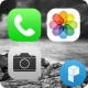 iPhone 5 style Black 런처플래닛 테마