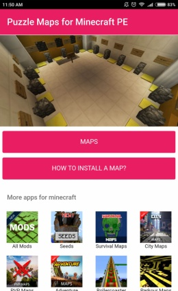 Puzzle maps for Minecraft – ONE store