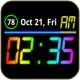 레인보우 배터리 시계 (Mini)