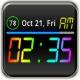 레인보우 배터리 시계 (HD32)
