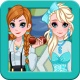 Dress up princess Anna and Elsa