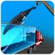 바다 고래 수송 트럭
